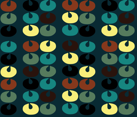 RetroShell fabric by sbd on Spoonflower - custom fabric