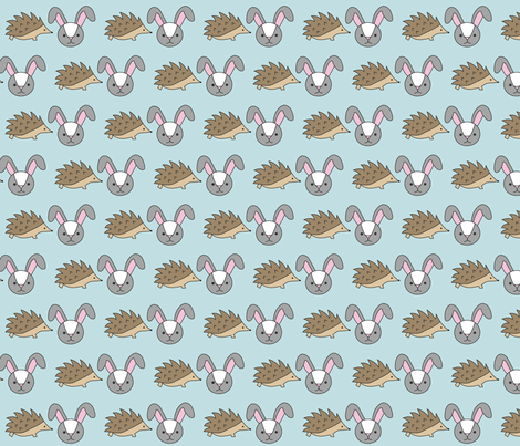 Hedgehog and Rabbit Signature fabric by hedgehogandrabbit on Spoonflower - custom fabric