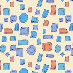 Gems, in blue