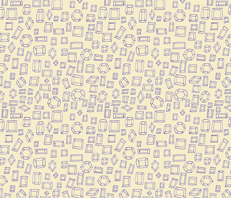 Ballpoint Gems fabric by cleverviolet on Spoonflower - custom fabric