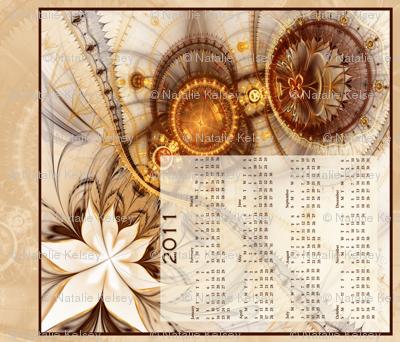 Gilded Lily Tea-Towel Calendar