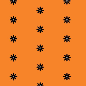 Retro Flowers (orange)