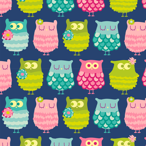 Hoot Hoots fabric by abby_zweifel on Spoonflower - custom fabric