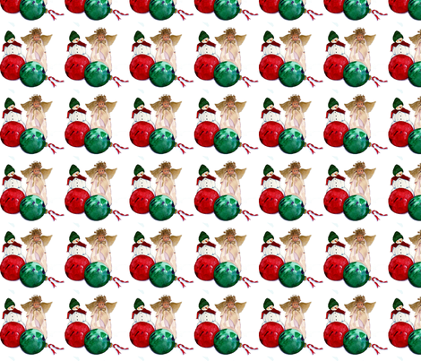 Benjamin's Christmas Ornaments Garland fabric by karenharveycox on Spoonflower - custom fabric