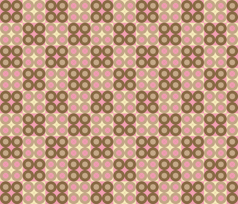Pink Argyle Circles fabric by audreyclayton on Spoonflower - custom fabric
