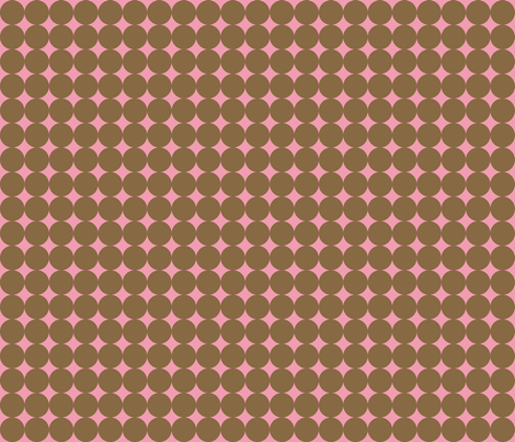 Pink Spots fabric by audreyclayton on Spoonflower - custom fabric