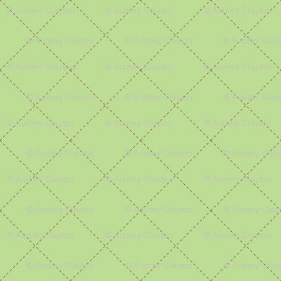Green Crisscross