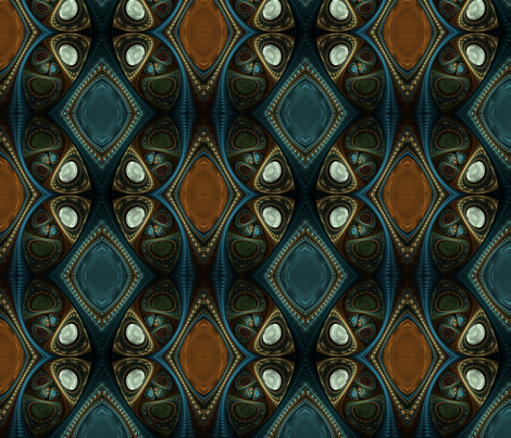 Topaz and Sapphire fabric by winter on Spoonflower - custom fabric