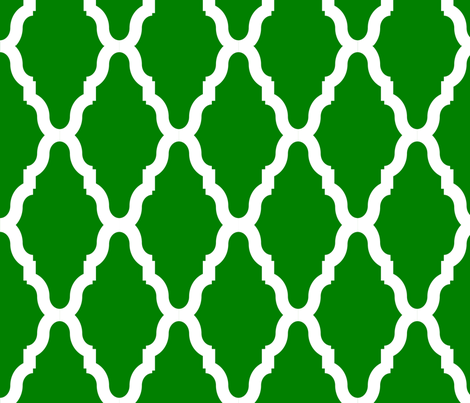 Green Lattice Lg Reverse fabric by cglosch on Spoonflower - custom fabric