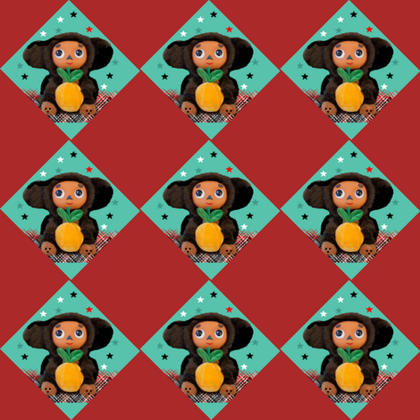 Cheburashka Argyle fabric by sherryann on Spoonflower - custom fabric
