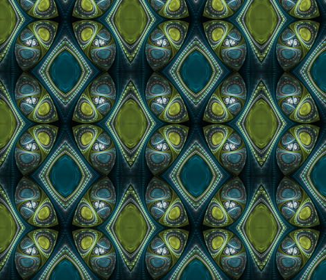 Aquamarine and Peridot fabric by winter on Spoonflower - custom fabric