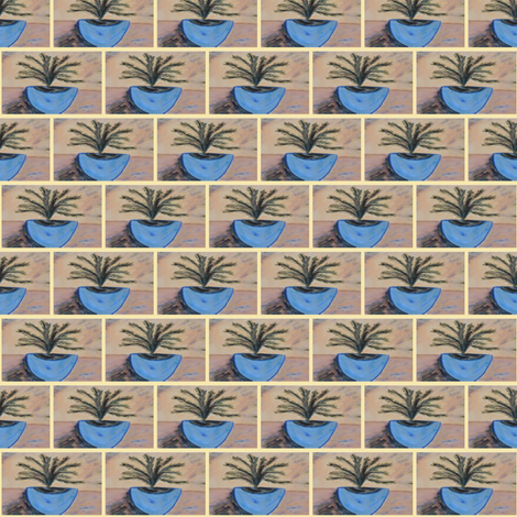 Blue Sea Tree #2 fabric by sherryann on Spoonflower - custom fabric