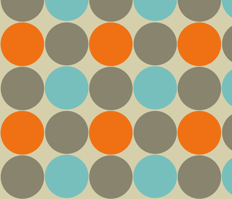 Blue and Orange Dotty fabric by joanne_headington on Spoonflower - custom fabric