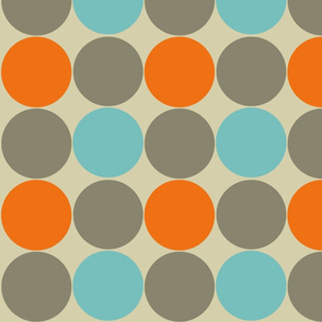 Blue and Orange Dotty