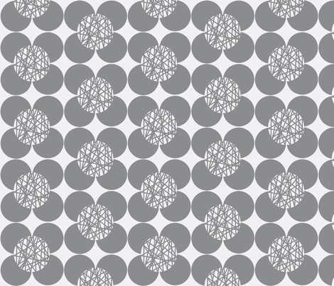Fifties Flower Grey fabric by joanne_headington on Spoonflower - custom fabric