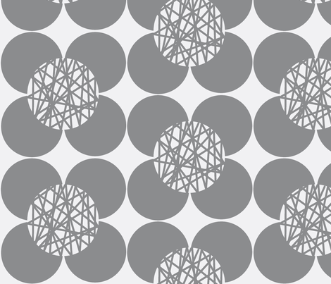 Fifties Flower Grey fabric by joheadington on Spoonflower - custom fabric