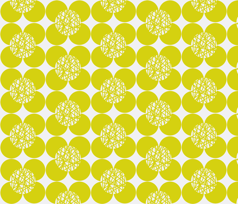 50's Flower Chartreuse fabric by joanne_headington on Spoonflower - custom fabric