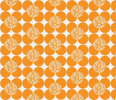 50's Flower Orange fabric by joanne_headington on Spoonflower - custom fabric