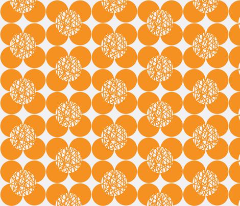 50's Flower Orange