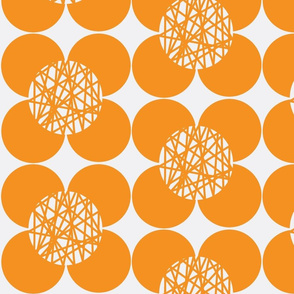Fifties Flower Orange