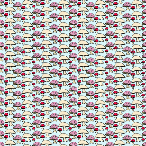 mushrooms! fabric by betje on Spoonflower - custom fabric