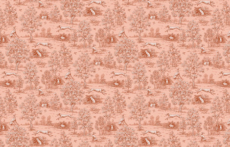 Red Reverse Greyhound Toile ©2010 by Jane Walker fabric by artbyjanewalker on Spoonflower - custom fabric