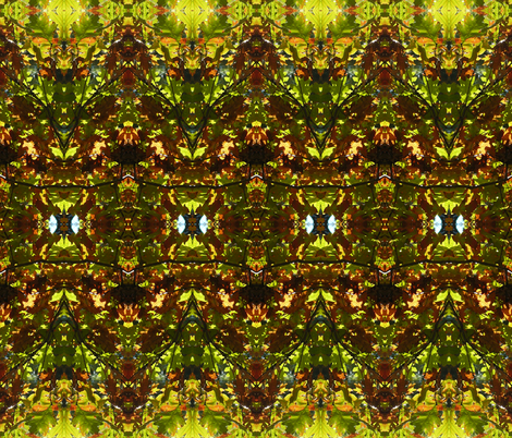 Oaks Overhead 2 fabric by winter on Spoonflower - custom fabric