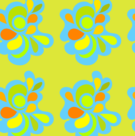 Lime alien flower fabric by carinaenvoldsenharris on Spoonflower - custom fabric