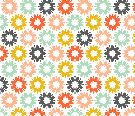 Fleurir: Colorburst Echo fabric by nadiahassan on Spoonflower - custom fabric