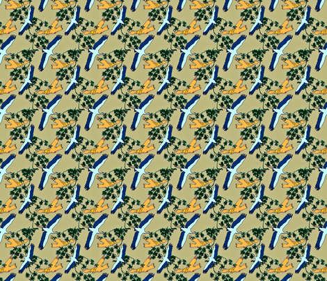 Stork & Owl fabric by crafty_mcgee on Spoonflower - custom fabric