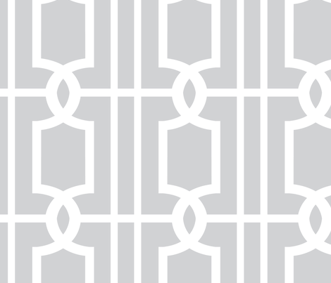 Trellis Grey fabric by samanthaoborne on Spoonflower - custom fabric