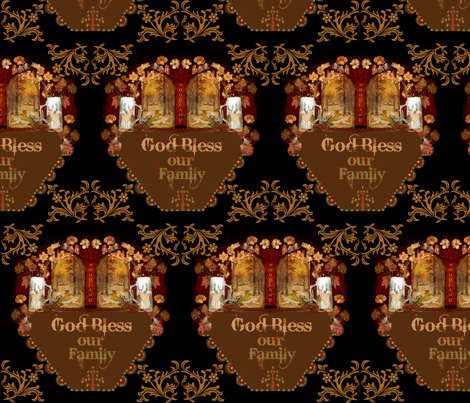 Bless our family fabric by paragonstudios on Spoonflower - custom fabric