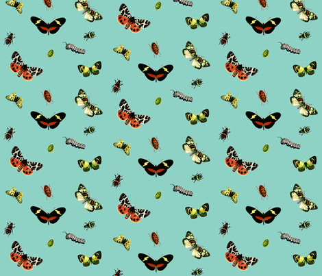 Bug Hunt fabric by hauteideas on Spoonflower - custom fabric