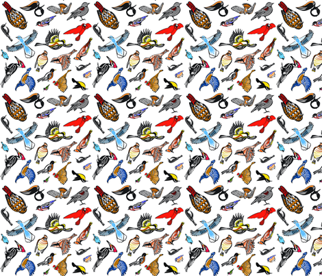 JKD_Birds of the North_13 fabric by studio_jkd on Spoonflower - custom fabric