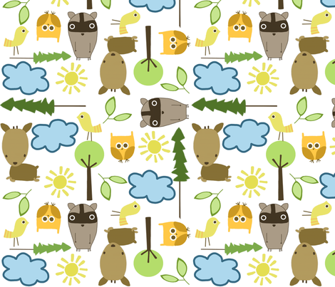 a sunny day in the forest fabric by emilyb123 on Spoonflower - custom fabric