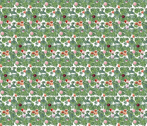 Scattered Collard Greens II fabric by kkitwana on Spoonflower - custom fabric