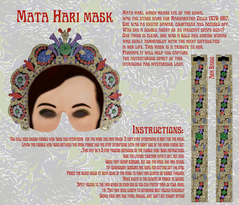 Mata Hari Mask fabric by minimiel on Spoonflower - custom fabric