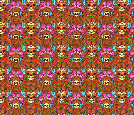 Skulls Revisit fabric by jadegordon on Spoonflower - custom fabric