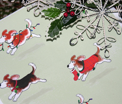 Christmas Beagles