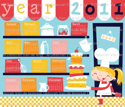 Let's bake a big cake for 2011!