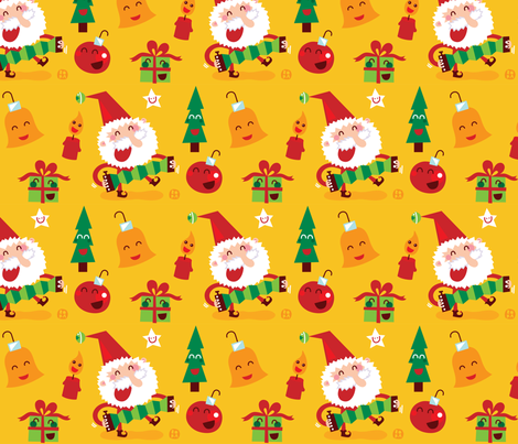 Happy Xmas! fabric by bora on Spoonflower - custom fabric