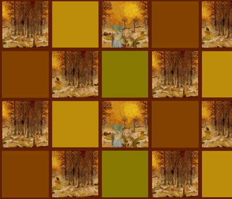 Adirondack Woods   w.c. patch fabric by paragonstudios on Spoonflower - custom fabric