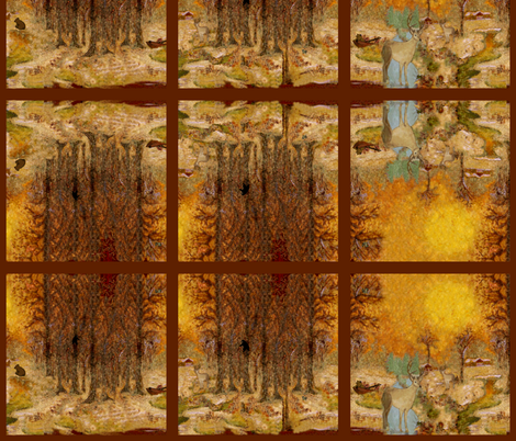 Adirondack Woods w.c. mirror fabric by paragonstudios on Spoonflower - custom fabric