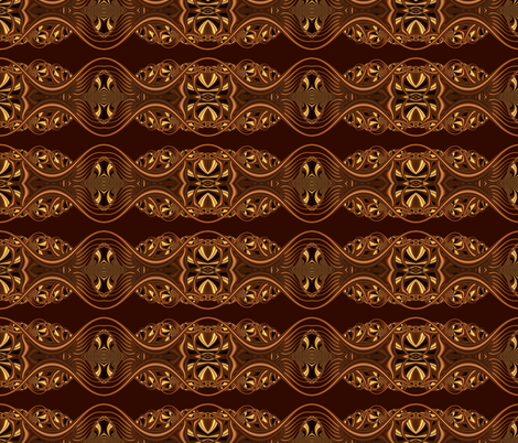 Tiny Designy-- Brown Loop fabric by winter on Spoonflower - custom fabric