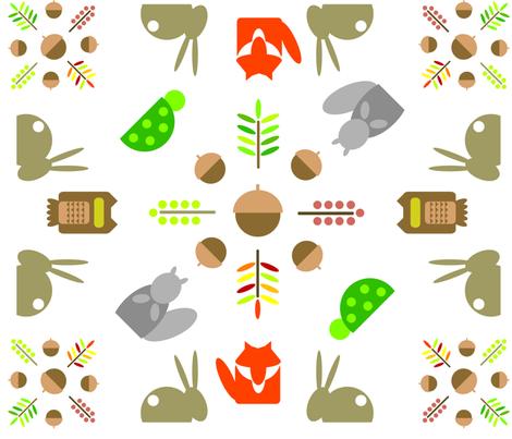 woodland fabric by lpowell729 on Spoonflower - custom fabric