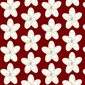 Holiday Floral on Red