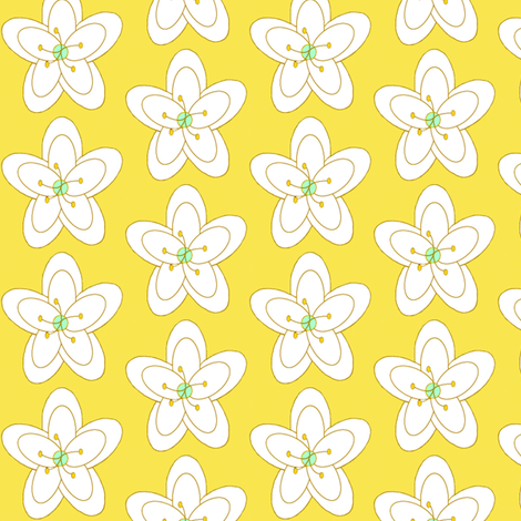 Sunshine Song Floral fabric by cksstudio80 on Spoonflower - custom fabric