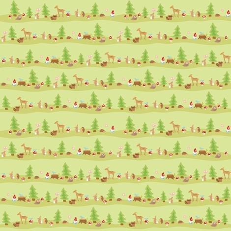 woodland animals fabric by littledear on Spoonflower - custom fabric