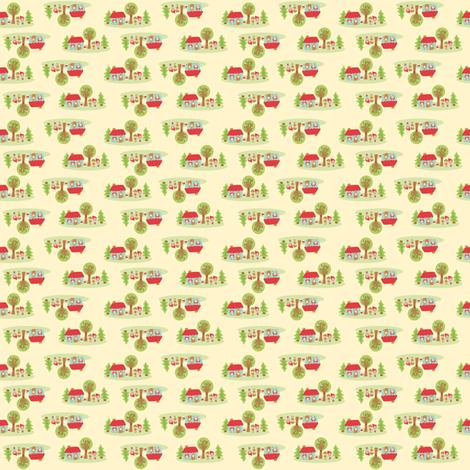little house in the woods fabric by littledear on Spoonflower - custom fabric