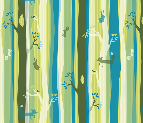Woodland Stripe fabric by acbeilke on Spoonflower - custom fabric